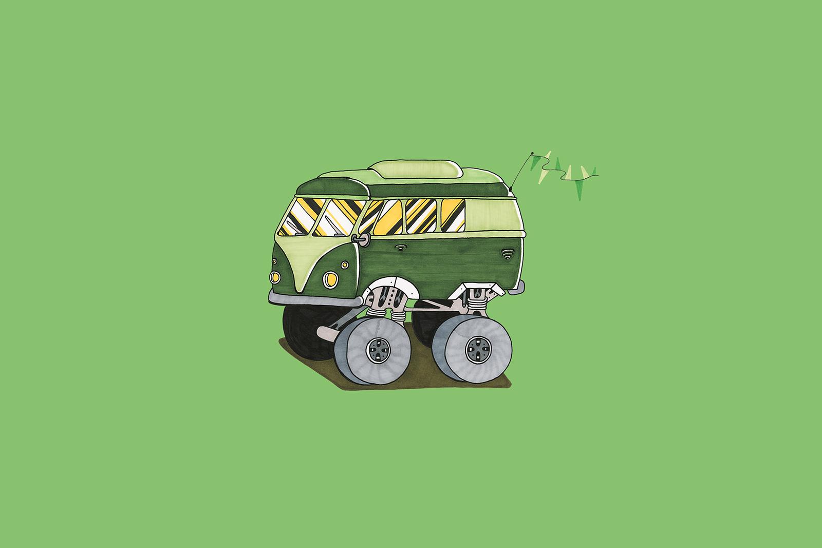 Grön buss