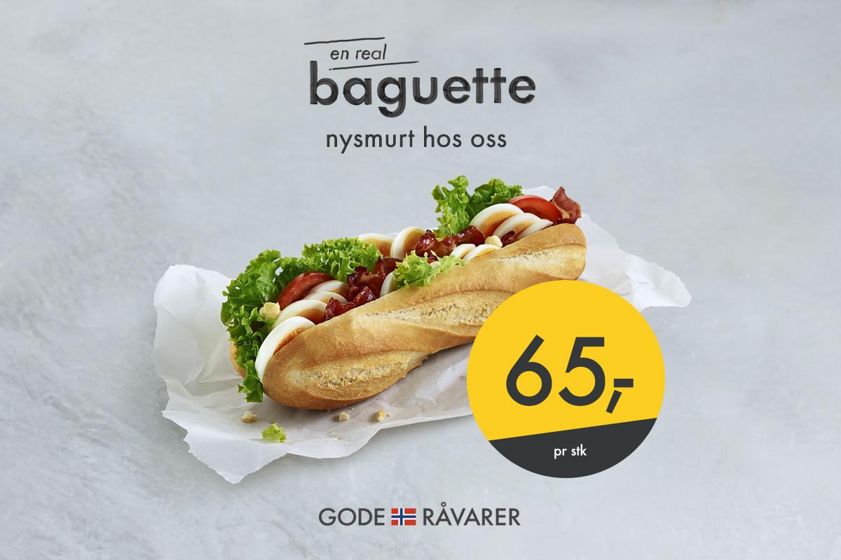 Nysmurt på stasjonen - Real Baguette