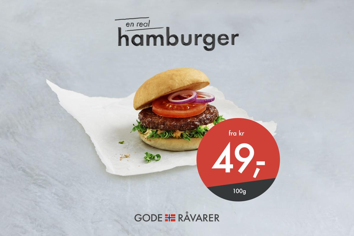 Hamburger fra 49kr