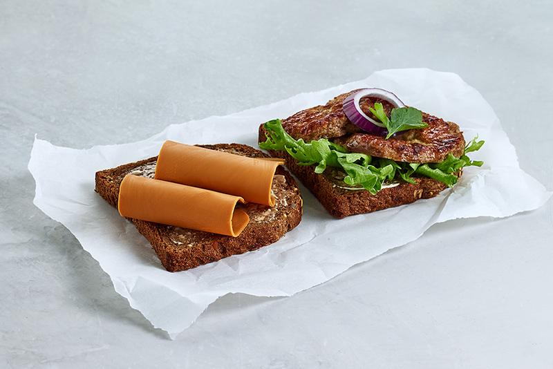 Real matpakke 2 skiver brunost og karbonade