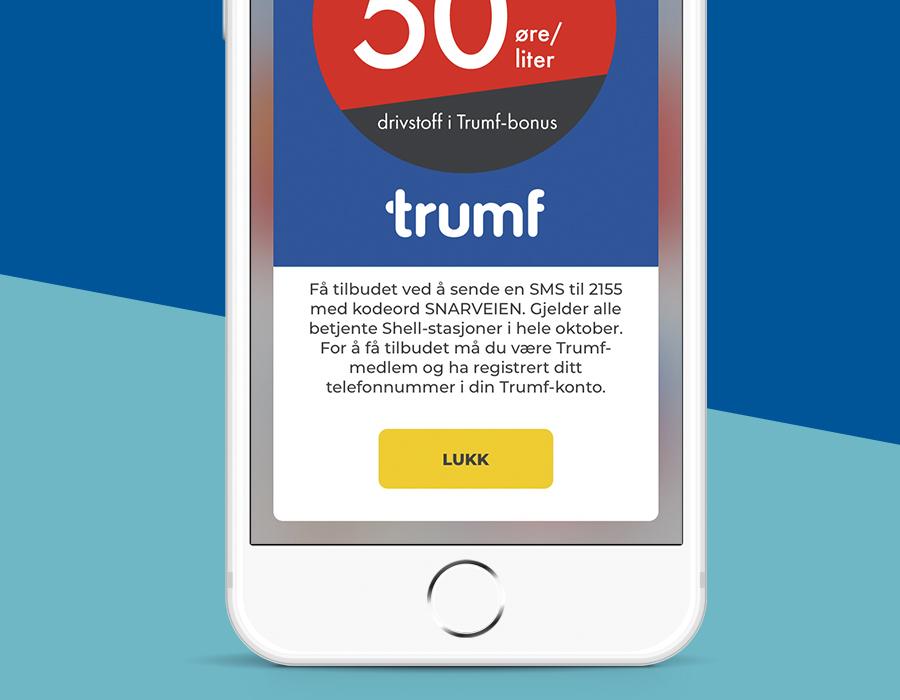 Trumf-bonus i appen