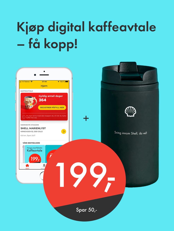 Kjøp digital kaffeavtale