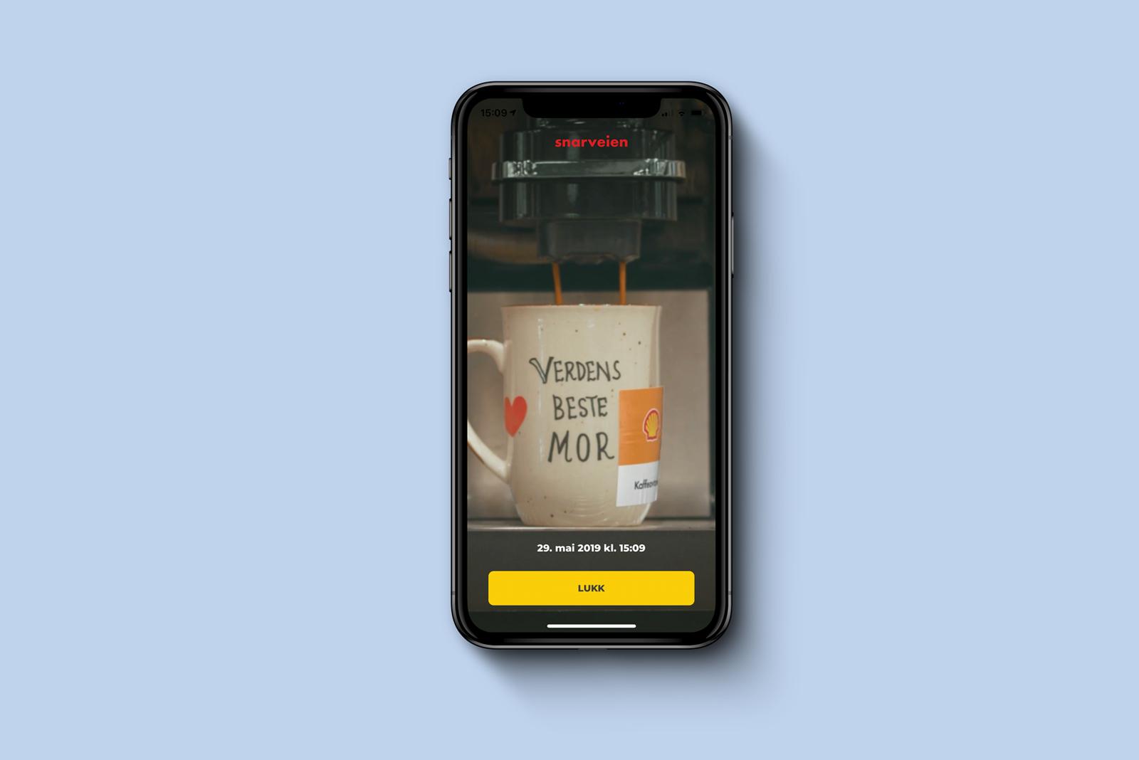 Fyll kaffekoppen skjermbilde