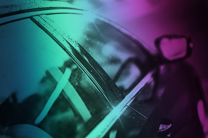 Bil premiumbiltvätt norrskensfärger