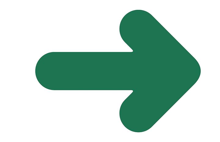 Pil till höger
