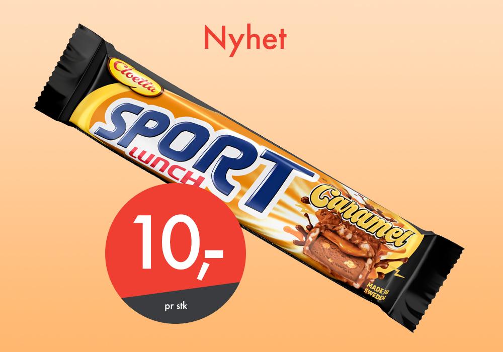 Nyheten Sportlunch Caramel