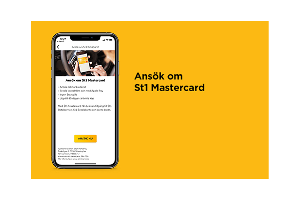 Ansök om St1 Mastercard