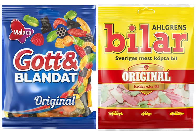 Gott&BLandat och Ahlgrens bilar påsar