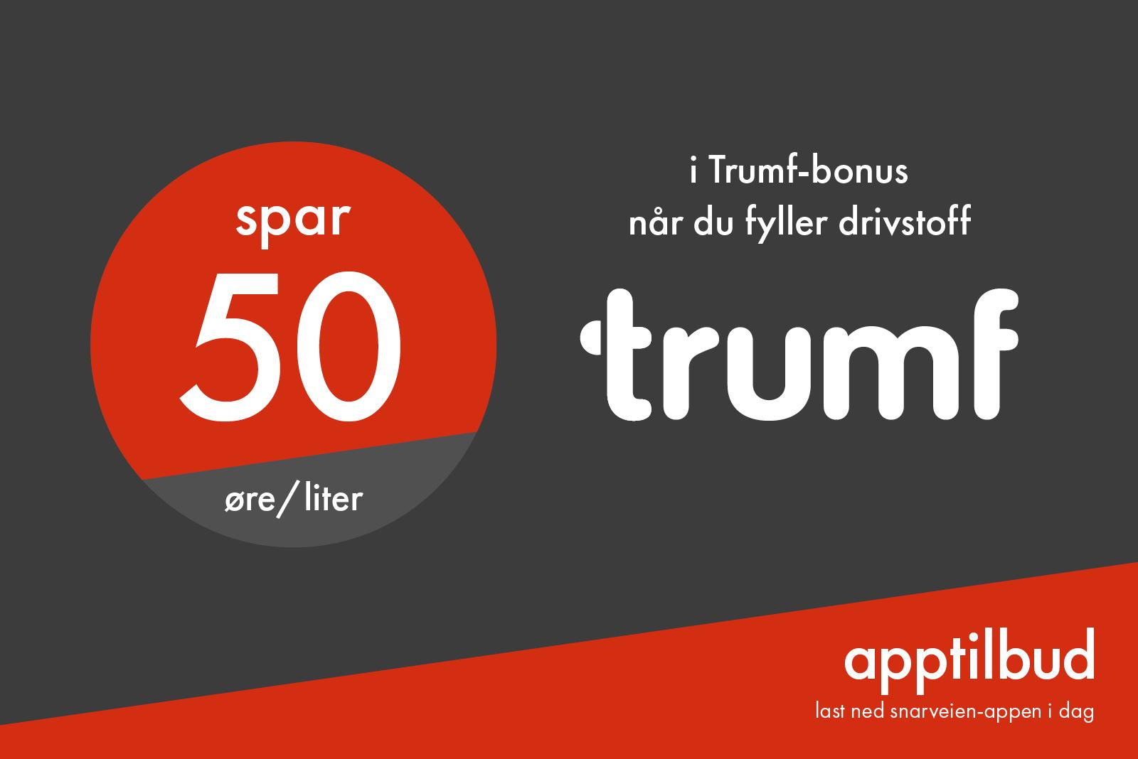Trumf-50 øre/l