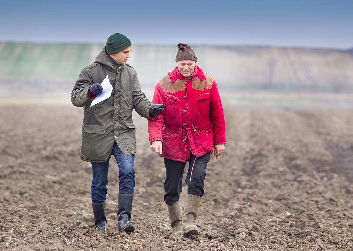 farmers talking