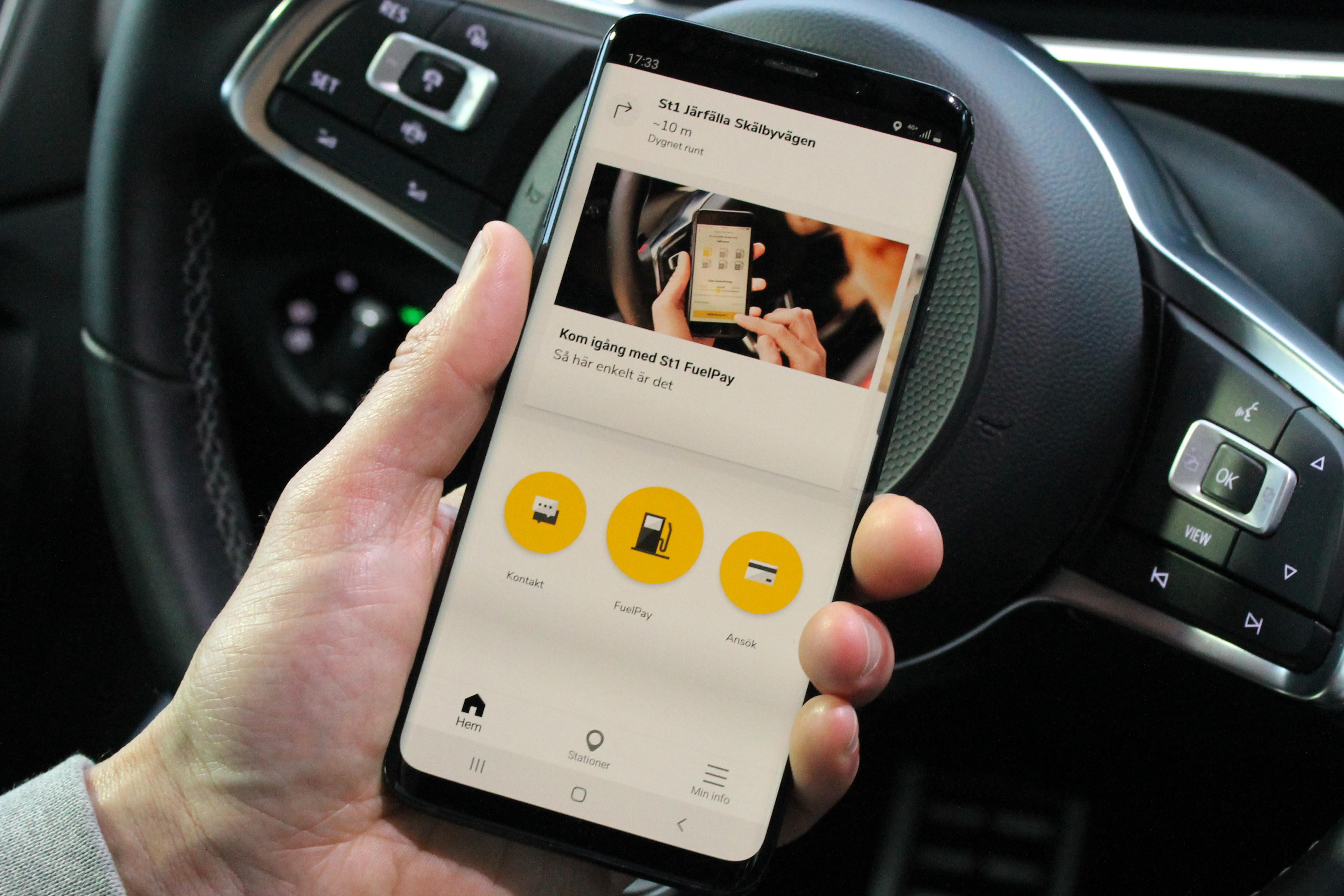 bild på fuelpay appen