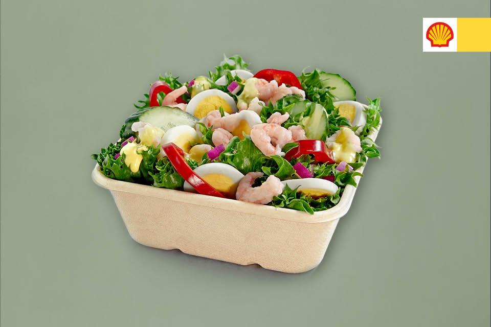 Salat med reker