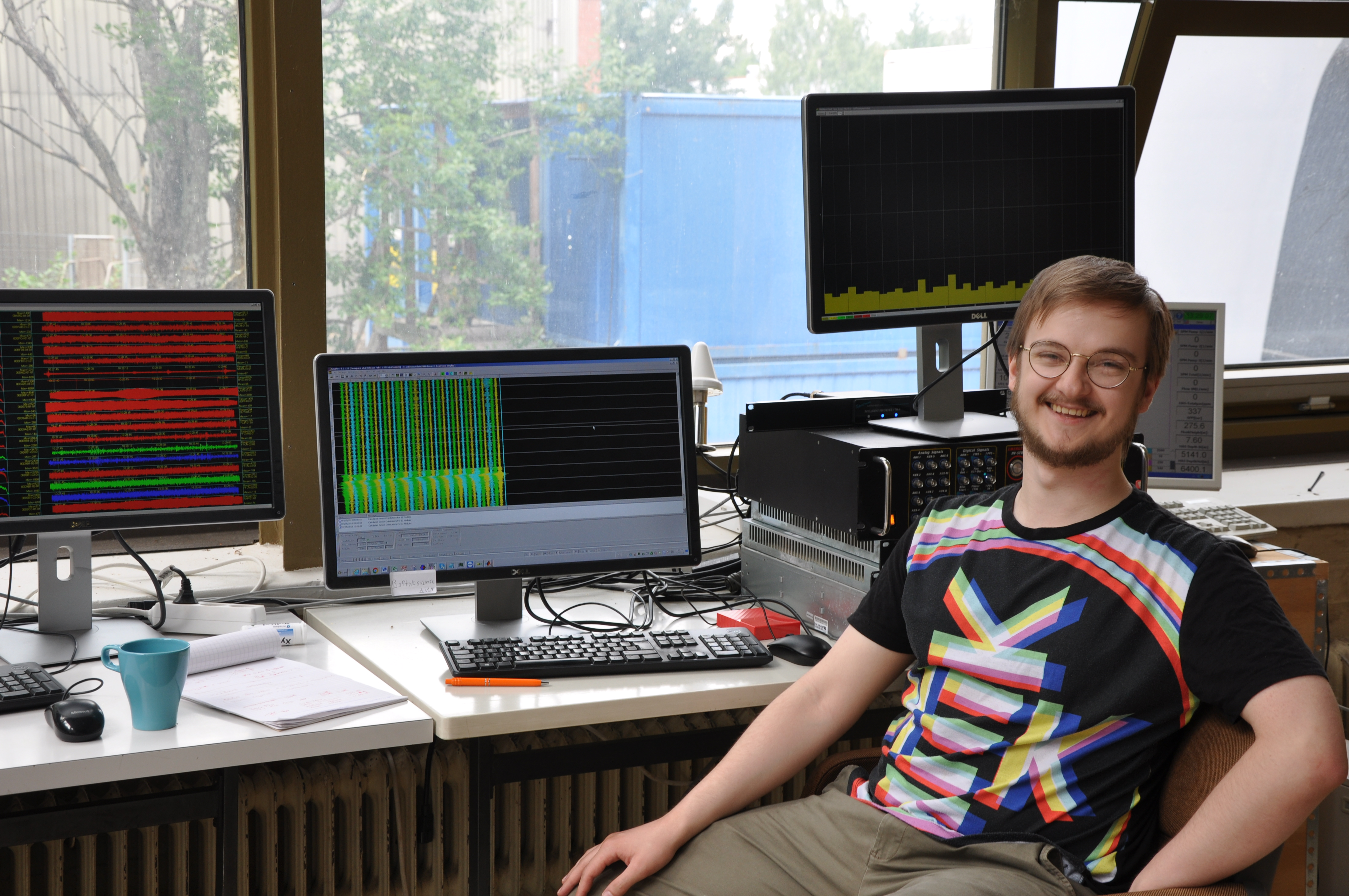 Kalle at Otaniemi control room