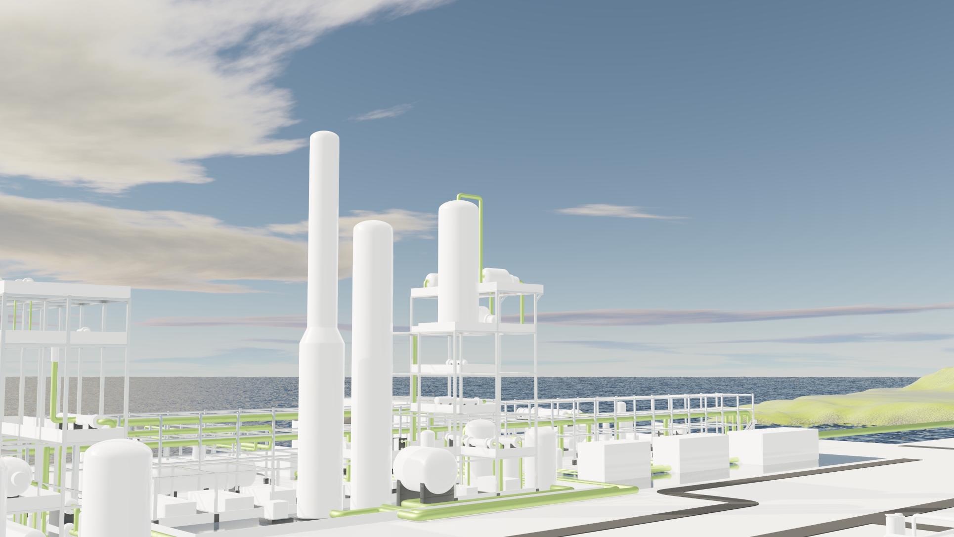 Vihreän ammoniakin tuotantolaitos