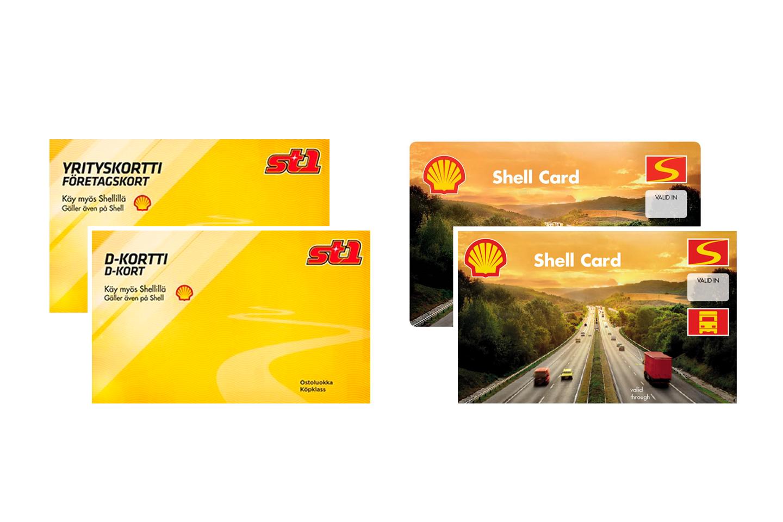 St1- ja Shell-yrityskortit